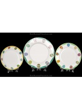 Set 3 Plates pic. Emerald(Easter), Form European