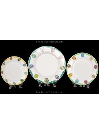 Set 3 Plates pic. Emerald, Form European