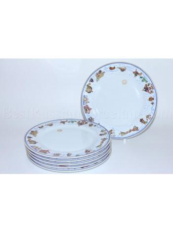 Set of 6 Dessert Plates pic. Snow History, Form European