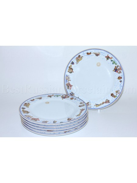 Set of 6 Dessert Plates pic. Snow History, Form European