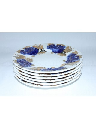Set of 6 Dessert Plates pic. Golden Garden, Form Tulip