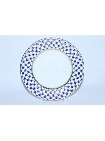Dessert Plate pic. Cobalt Net, Form Wave