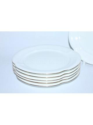 Set 6 Dessert Plates pic. Golden ribbon, Form Natasha