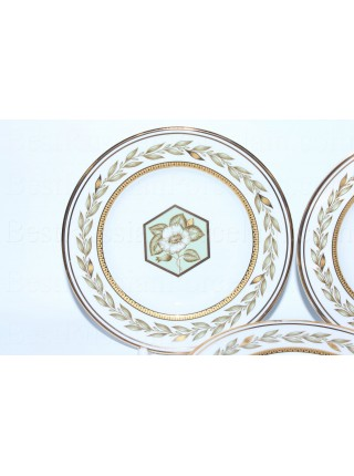 Set 6 Dessert Plates pic. Nephrite Background, Form Smooth