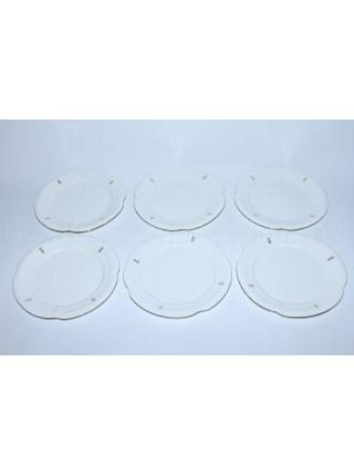 Set 6 Dessert Plates pic. Eyelets (Loops), Form Natasha