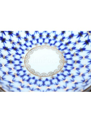 Set 6 Jam Dishes / Bowl pic. Cobalt Net Form Tulip