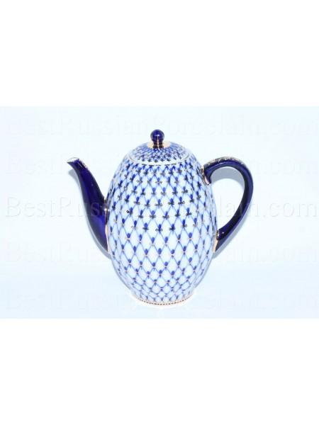 Coffee pot Cobalt Net, Form Tulip