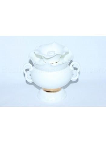 Sugar Bowl pic. Golden ribbon, Form White flower