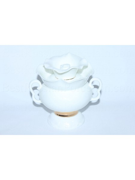 Sugar Bowl pic. Golden ribbon, Form White flower