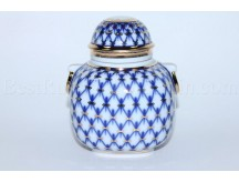 Tea Caddy pic. Cobalt Net Form Ring