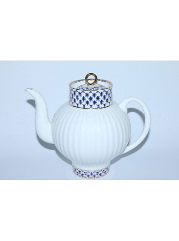 Teapot Cobalt Net Form Wave