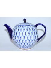 Teapot Cobalt Net Form Tulip
