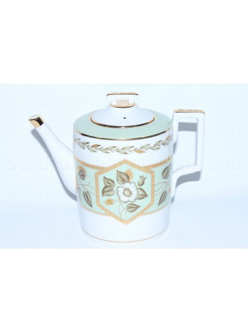Teapot pic. Nephrite Background, Form Heraldic