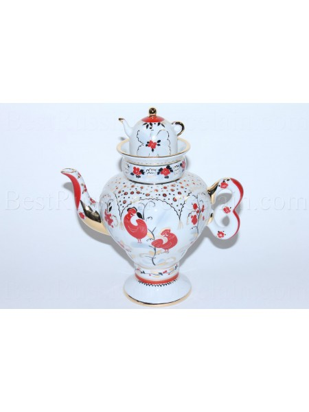 Teapot pic. Folk Patterns Form Samovarchik