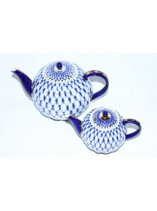 Set two teapots Cobalt Net,  Form Tulip
