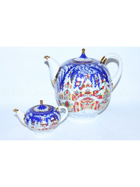 Set of Teapots big and small pic. Winter Tale, Form Novgorod, BIG 2.5L