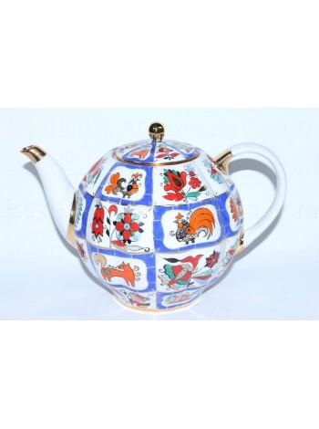 Teapot Russian Lubok, Form Tulip