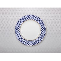 "Tablecloth pic. Cobalt Net(Silver) 57""*87"""