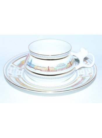 Cup and saucer pic. Embankments of Neva Form Bilibin