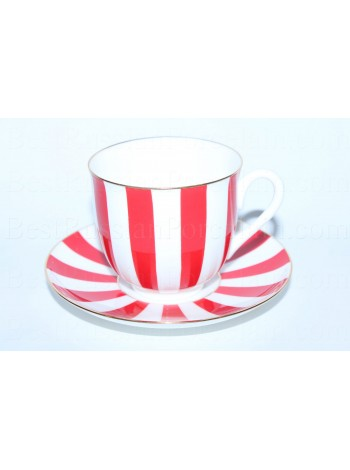 Cup and Saucer pic. Yes & No (Red), Form Lily of the valley