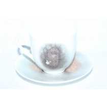 Cup and saucer pic. Hedgehog in the Fog - Dog, Form Lily of the valley