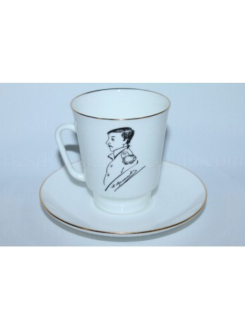 Cup and Saucer pic. M. Lermontov, Form May