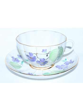 Cup and Saucer pic. Forest violet, Form Tulip