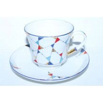 Cup and saucer pic. Kaleidoscope, Form Banquet