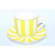 Cup and Saucer pic. Yes & No (Yellow), Form Lily of the valley