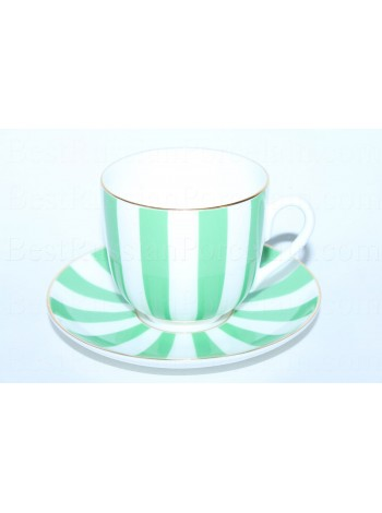 Cup and Saucer pic. Yes & No (Green), Form Lily of the valley
