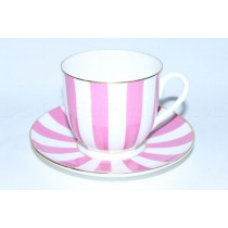 Cup and Saucer pic. Yes & No (Pink), Form Lily of the valley