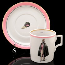 Cup and saucer pic. Modes de Paris 1840, Form Heraldic