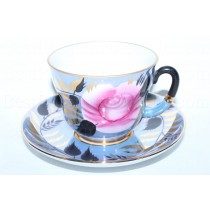 Cup and saucer pic. Rose Flower (Gipsy), Form Madam