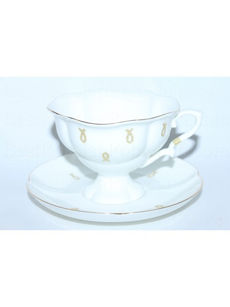 Cup and saucer pic. Eyelets (Loops), Form Natasha