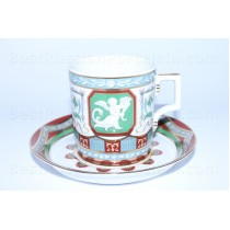 Cup and Saucer pic. Antique, Form Heraldic