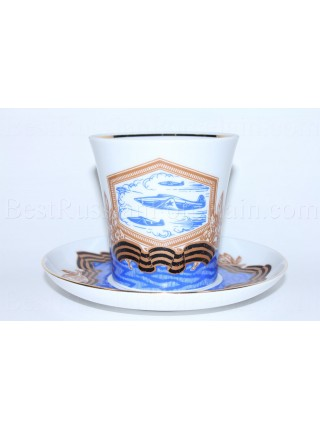 Mug and Saucer pic. Aviation (Aircraft Victory), Form Leningrad