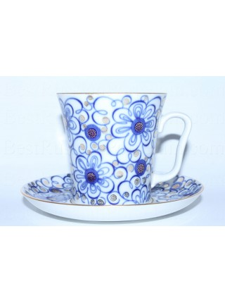 Mug and Saucer pic. Bindweed, Form Leningrad