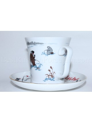 Mug and Saucer pic. Good Fishing, Form Leningrad
