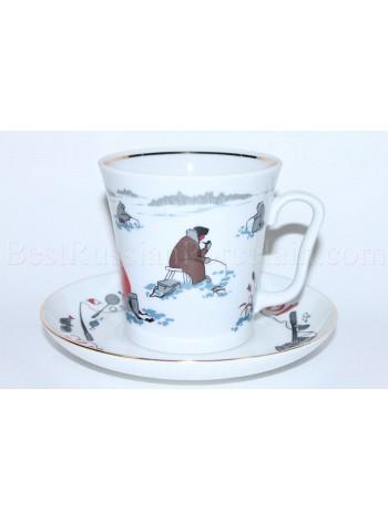 Mug and Saucer pic. Good Fishing, Form Leningrad