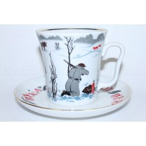 Mug and Saucer pic. Good Hunting, Form Leningrad