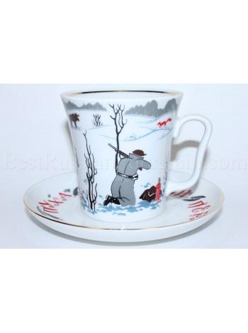 Mug and Saucer pic. Good Hunting, Form Leningrad