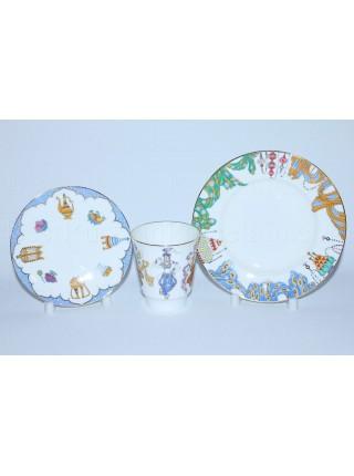 Trio set: cup, saucer and dessert plate pic. Ballet Scheherazade, Form May