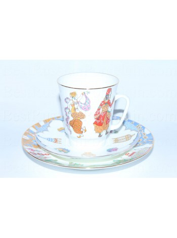 Trio set: cup, saucer and dessert plate pic. Scheherazade, Form May