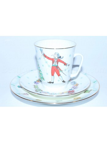 Trio set: cup, saucer and dessert plate pic. Nutcracker or Schelkunchik, Form May