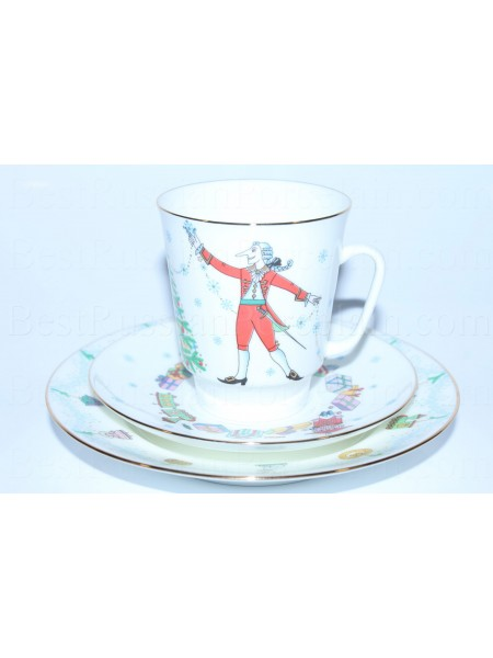 Trio set: cup, saucer and dessert plate pic. Ballet Nutcracker or Schelkunchik, Form May