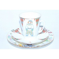Trio set: cup, saucer and dessert plate pic. Ballet Petrushka, Form May