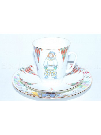 Trio set: cup, saucer and dessert plate pic. Petrushka, Form May