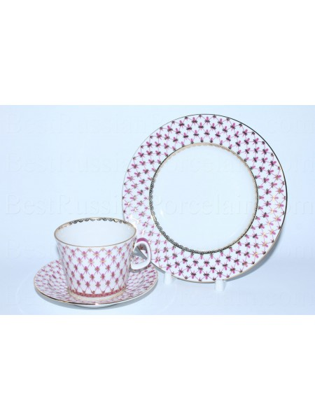 Trio set: cup, saucer and dessert plate pic. Net Blues, Form Youth