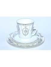Trio set: cup, saucer and dessert plate pic. Ballet Swan Lake, Form May