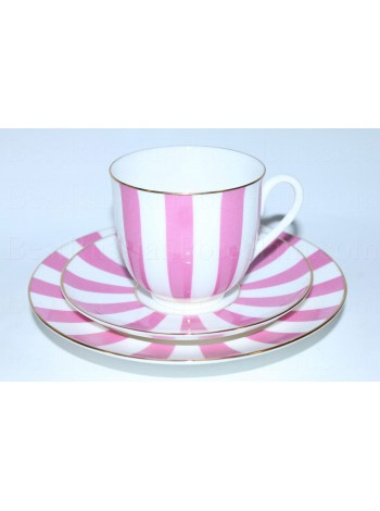 Cup, saucer and plate pic. Yes & No (Pink), Form Lily of the valley